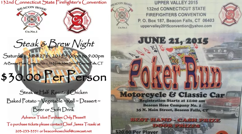 Poker Run, Steak and Brew Night to Support Convention